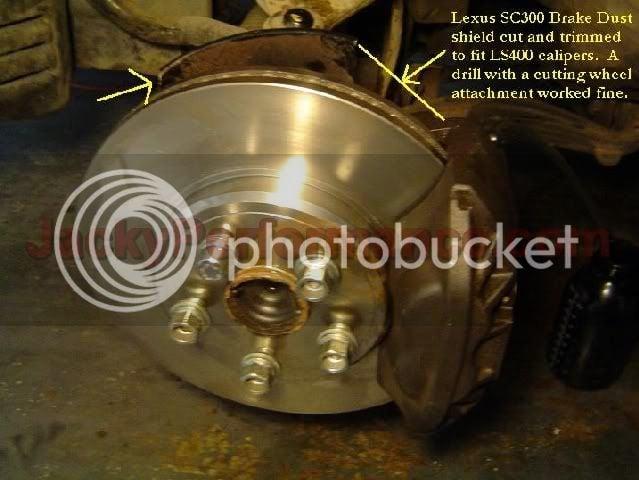 LS400 Front Brake Upgrade  The Easy way! | Supra Forums