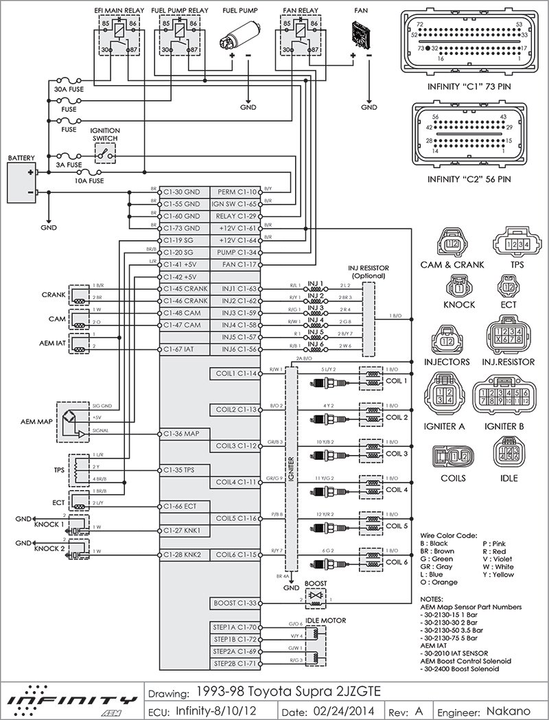 AEM Infinity Supra wiring diagram... | Supra Forums on
